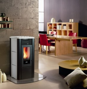 Monica, Free Standing Pellet Fire With Hearth