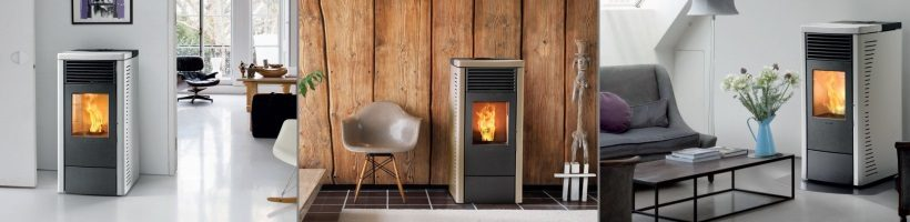 Rosa Wood Pellet Fire - Italian Styling